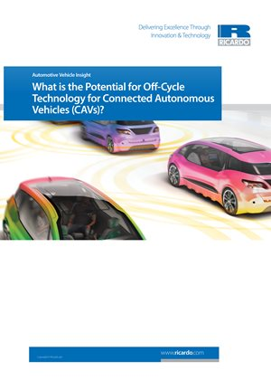 What is the Potential for Off-Cycle Technology for Connected Autonomous Vehicles (CAVs)?