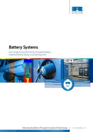 Battery Systems: Your Single-Source Partner for Complete Battery- Powered Vehicle Design and Development